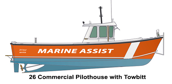 Shamrock Boats - 26 Commercial Pilothouse with Towbitt